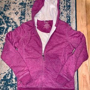 Purple L.L. Bean Fleece Zip Up Hoodie